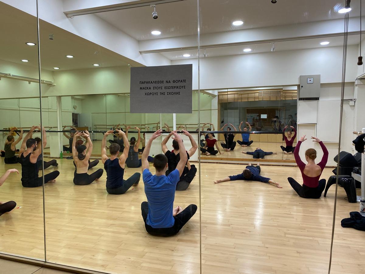 Επίσκεψη της Υπουργού Πολιτισμού και Αθλητισμού Λίνας Μενδώνη στην Κρατική Σχολή Ορχηστικής Τέχνης (ΚΣΟΤ)