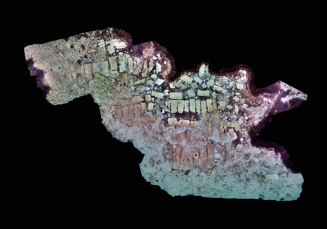 Άποψη της περιοχής όπου πραγματοποιήθηκε επιφανειακός καθαρισμός σε βυθισμένη κατασκευή στον Πόρο